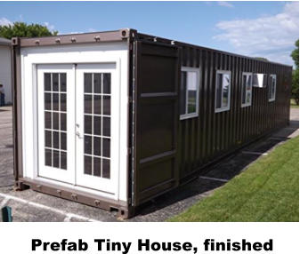 Prefab Tiny House, finished