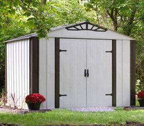 12X24 Shed, around $5,900 perfect for tiny cabin conversion.