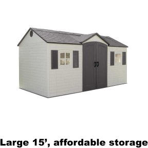 Large 15', affordable storage
