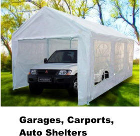 Garages, Carports, Auto Shelters