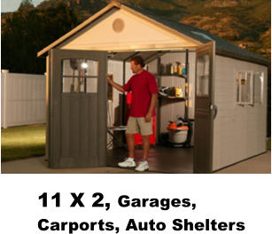 11 X 2, Garages, Carports, Auto Shelters