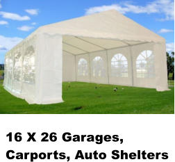 16 X 26 Garages, Carports, Auto Shelters
