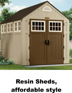 Resin Sheds, affordable style